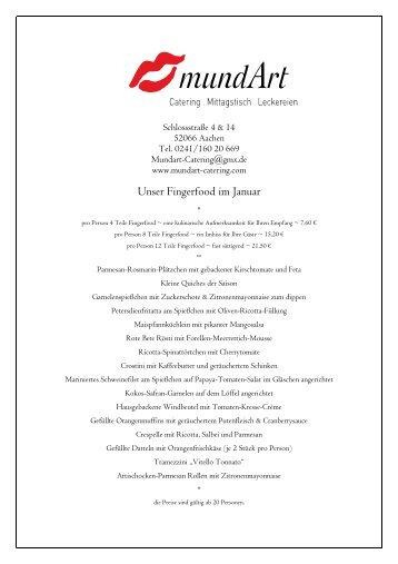 Unser Fingerfood im November - MundArt Catering