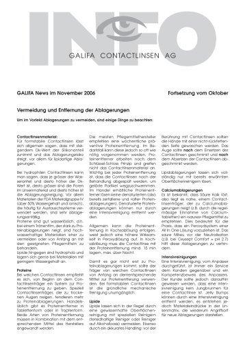 INFO - Galifa Contactlinsen AG