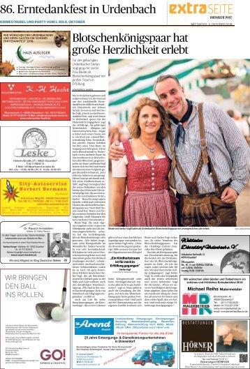 86. Erntedankfest in Urdenbach  -03.10.2018-