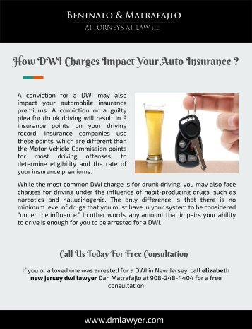 How DWI Charges Impact Your Auto Insurance