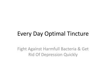 Every Day Optimal Tincture Reviews