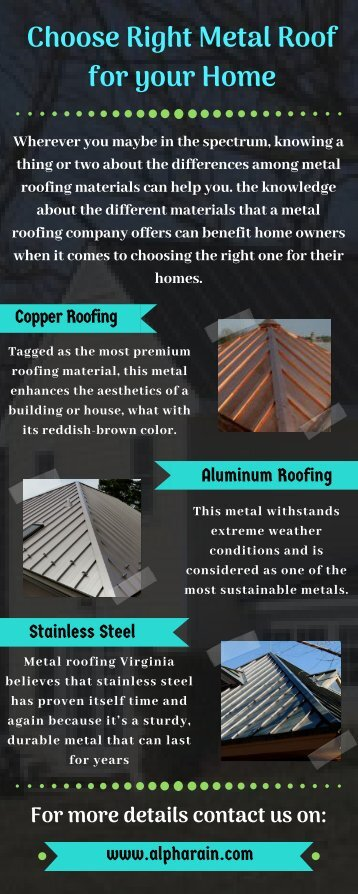 Choose Right Metal Roof for your Home