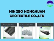 Non Woven Geotextile Fabric at Ningbo Honghuan Geotextile