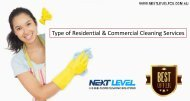 Type of Residential & Commercial Cleaning Services