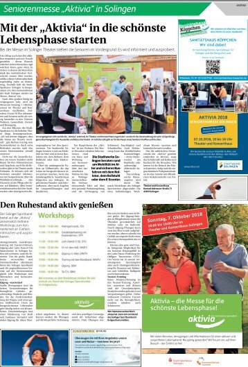 "Seniorenmesse ""Aktivia""  -03.10.2018-"