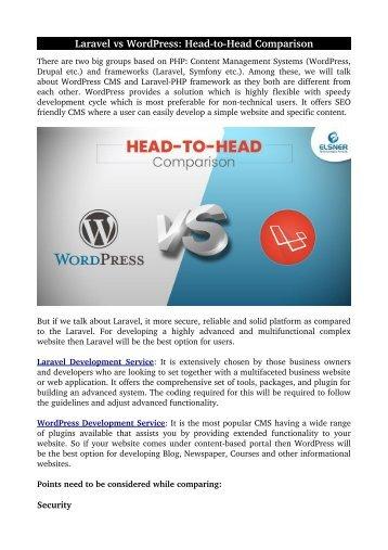 Laravel vs WordPress: Head-to-Head Comparison