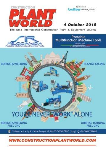 Construction Plant World 4th Oct 2018