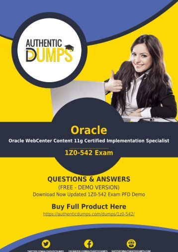 1Z0-542 Exam Dumps | Prepare Your Exam with Actual 1Z0-542 Exam Questions PDF