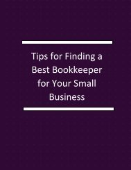 Tips For Finding A Best Bookkeeper For Your Small Business