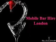 Mobile Bar Hire for Birthday Parties