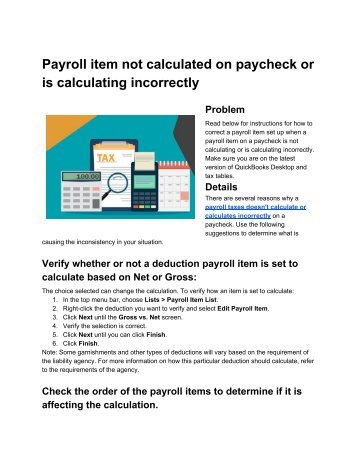 Payroll taxes not calculated on paycheck or is calculating incorrectly_ PosTechie™