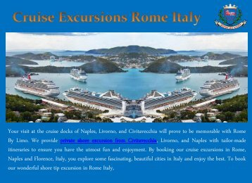 Cruise Excursions Rome Italy