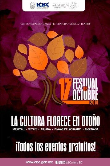 Agenda Cultural del ICBC Octubre 2018