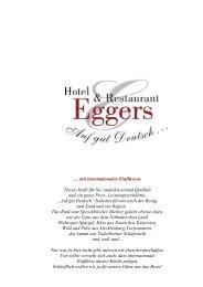 Download der Speisekarte als PDF-Datei. - Hotel & Restaurant Eggers