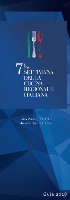 Guia 2018 - 7ª Settimana della Cucina Regionale Italiana