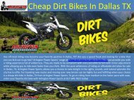 Cheap Dirt Bikes In Dallas TX