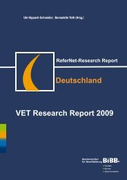 Deutschland VET Research Report 2009 - BiBB