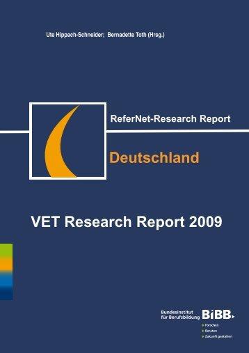 Deutschland VET Research Report 2009 - BiBB