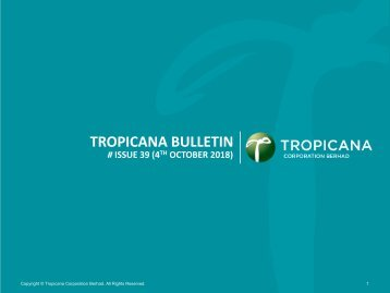 Tropicana Bulletin Issue 39