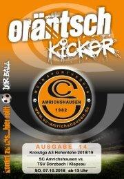 Ausgabe 14 / SCA - TSV Dörzbach / Klepsau
