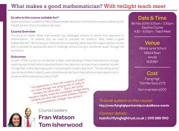 081118 FHT WHAT MAKES A GOOD MATHEMATICIAN WITH TTMEET