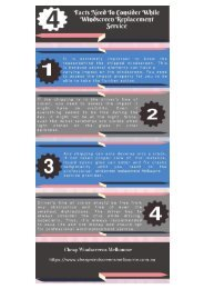 4 Facts Need To Consider While Windscreen Replacement Service - Infographics