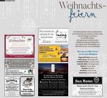 Weihnachtsfeiern in Kempten