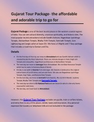 Gujarat Tour Package- the affordable and adorable trip to go for