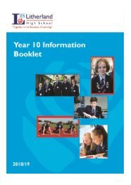 LHS Year 10 Information Booklet 2018-19