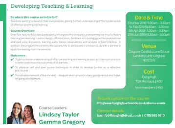 231118 FHT DEVELOPING TEACHING & LEARNING 4DAY