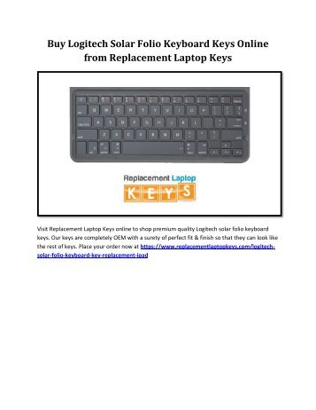 Buy Logitech Solar Folio Keyboard Keys Online from Replacement Laptop Keys