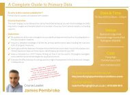 071218 FHT COMPLETE GUIDE TO PRIMARY DATA