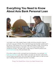 Everything You Need to Know About Axis Bank Personal Loan