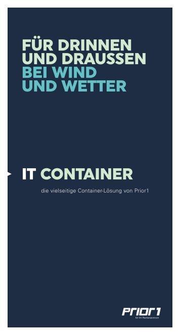 IT Container - Rechenzentrumscontainer | Prior1