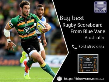 Buy Rugby Scoreboard - Blue Vane, Australia