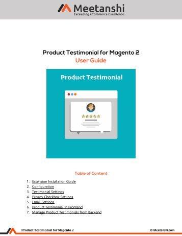Magento 2 Product Testimonial