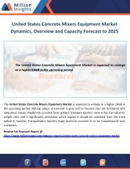 United States Concrete Mixers Equipment Market Dynamics, Overview and Capacity Forecast to 2025