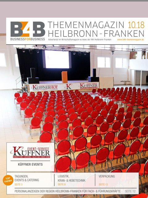 TAGUNGEN, EVENTS & CATERING | B4B Themenmagazin 10.2018
