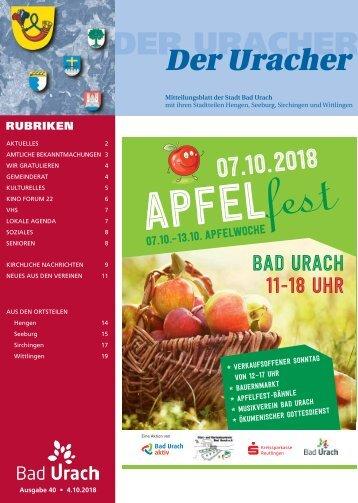 Der Uracher KW 40-2018