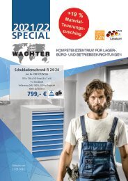 WACHTER Betriebseinrichtungen Special 2021/22