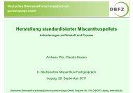 Herstellung standardisierter Miscanthuspellets