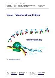 Eiweiss – Wissenswertes und Hitlisten - Ever - Dr. med. Jürg Eichhorn