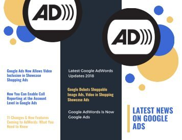 Latest News On Google Ads