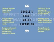 Google's Exact Match Expansion