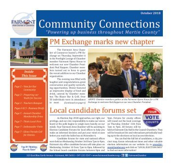 Chamber Newsletter - October 2018