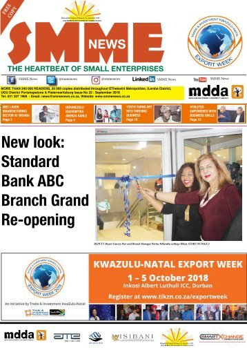 SMME NEWS - SEPTEMBER 2018 ISSUE
