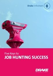 Five keys to job hunting success