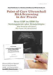 BAA / AAA-Screening: Sonoskopie der Aorta. Ein abrechenbares Point-of-Care Ultraschallverfahren.