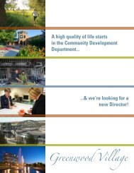 Community Development Director Brochure
