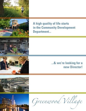Community Development Director Brochure